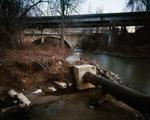Jeff Rich: Sanitary Sewer Pipe and I-26, Hominy Creek, Asheville, North Carolina, 2006