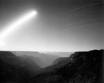Mark Klett: Moonrise above the Powell Plateau, Grand Canyon 7/4/04