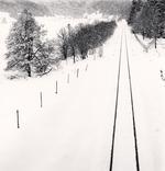 Michael Kenna: Railway Lines in Snow, Quarto Santa Chiara, Palena, Abruzzo, Italy